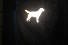 ReflektorFolie auf einer Jacke